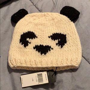 NWT BCBG Panda winter hat
